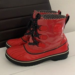 Authentic Sorel red duck rain boots sz 10